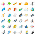 reality icons set isometric style vector image vector image