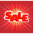 Red Poster Sale vector image vector image