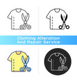 resizing clothes black linear icon vector image vector image
