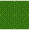 Seamless geometric pattern in green ecological vector image