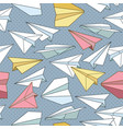 seamless pattern with paper planes creative vector image