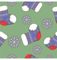seamless winter Christmas pattern with socks vector image