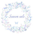 season sale marketing poster banner promotion vector image vector image