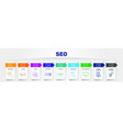 seo infographics design timeline concept vector image vector image