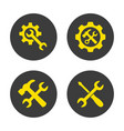 service tool icons on white background vector image
