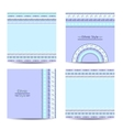 Set of cards with ethnic design Geometric vector image vector image