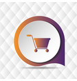shopping cart icon geometric background ima vector image