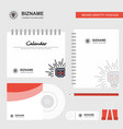skull logo calendar template cd cover diary and vector image
