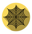 spider on web flat black vector image vector image