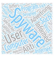 Spyware And Spycheckers text background wordcloud vector image vector image