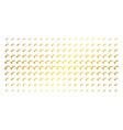 sqrt gold halftone grid vector image
