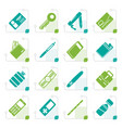 stylized simple object icons vector image vector image
