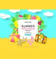 summer bug sale banner with sweet travel vacation vector image