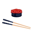 Sushi food and chopsticks vector image vector image