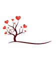 tree symbol with hearts vector image vector image