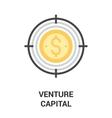 venture capital icon concept vector image vector image