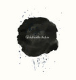 watercolor texture circle element brush vector image vector image