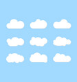 white clouds set background vector image vector image