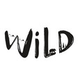 with lettering word - wild vector image