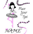 young girl as ballet dancer vector image vector image