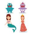 fantastic character fairytale cartoon vector image