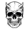 Demon Head Skull vector image