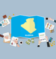 algeria africa economy country growth nation team vector image vector image