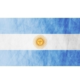 Argentinean grunge flag vector image vector image