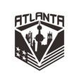 atlanta skyscraper city creative conc vector image vector image