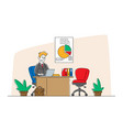 bank employee male character wearing formal suit vector image vector image