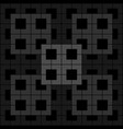 black geometric pattern on black background vector image