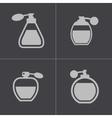 black perfume icons set vector image vector image