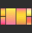 bright pink and orange gradients backgrounds set vector image vector image