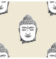 buddha head pattern seamless tile background vector image vector image