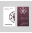 Business card with mandala vector image vector image
