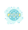 cartoon colored made in japan icon in comic style vector image vector image