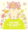 cat on meadow vector image