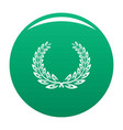certified wreath icon green vector image vector image