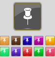 Clip Icon sign Set with eleven colored buttons for vector image vector image
