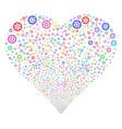 clock wheel fireworks heart vector image vector image