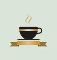 coffee cup logo vector image vector image