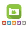 Color set of flat folder with video sign vector image