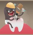 concept with tooth health vector image vector image