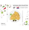 croatian cuisine european national dish vector image vector image