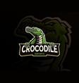 crocodile mascot logo design vector image vector image