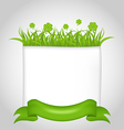 Cute nature card for St Patricks Day vector image vector image