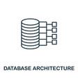 database architecture icon line style element