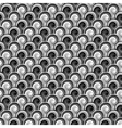 Design seamless monochrome whirlpool pattern vector image