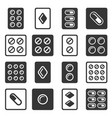 drug pills in blister icons set vector image vector image