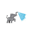 Elephant Marching Spraying Water Cartoon vector image vector image